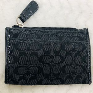 Coach Signature Small Wallet with Key Ring